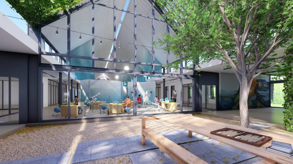 Prep Atrium Space looking at Techno Hub